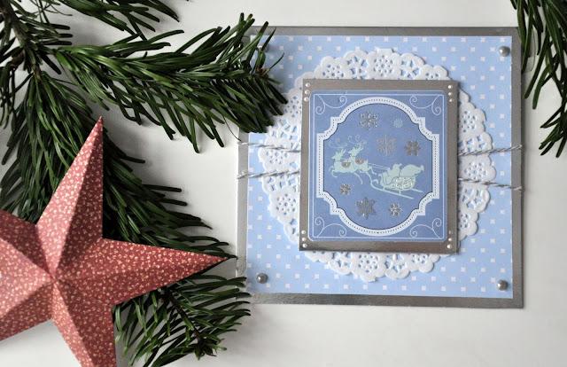 Kartki świąteczne – błękit