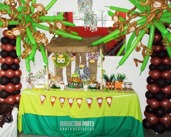 Decoración de Fiestas Infantiles de Animales de la Selva Arcos con