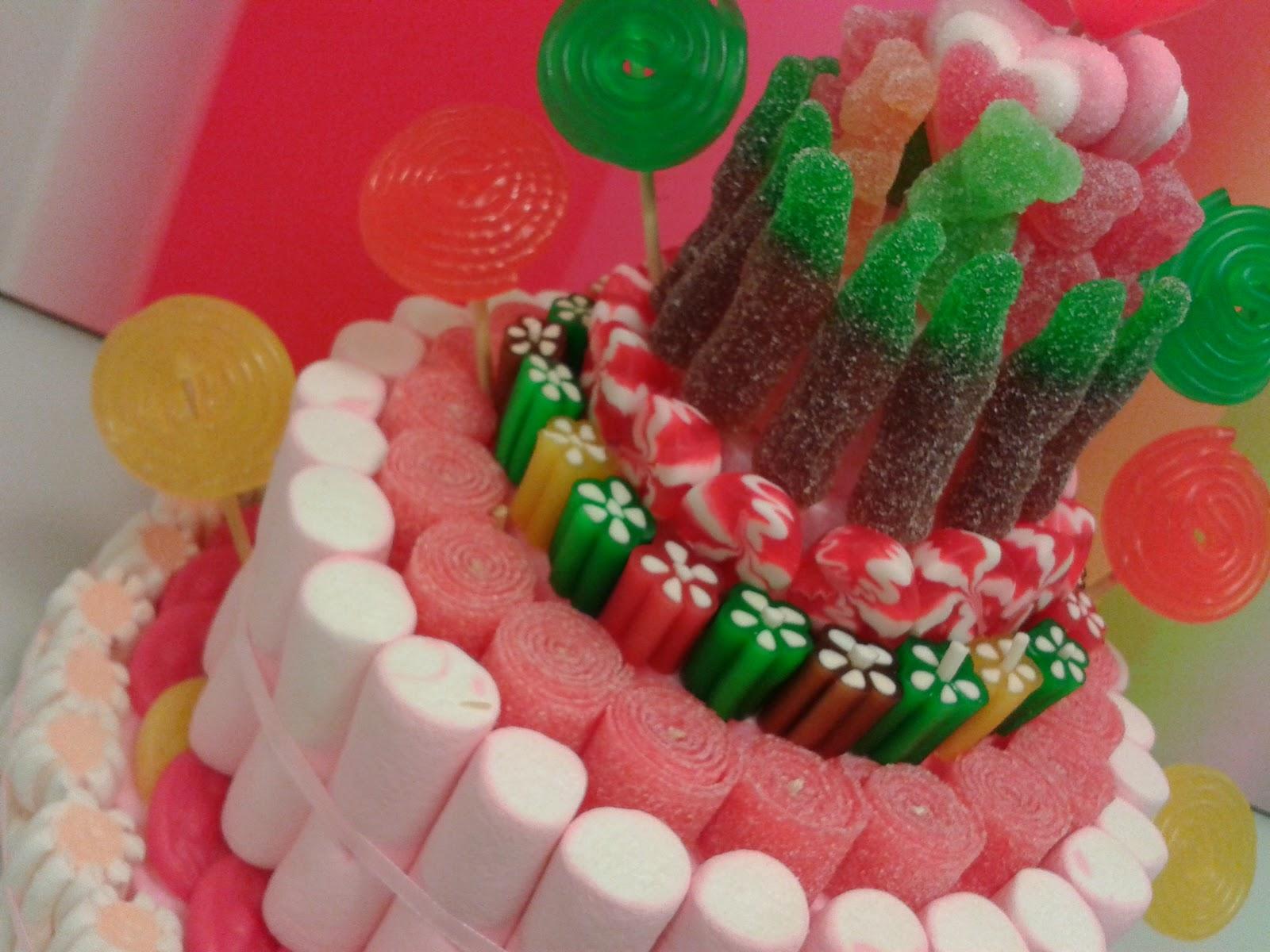 Chuchedetalles pamplona tarta de chuches con pisos para irene - Tartas de chuches fotos ...