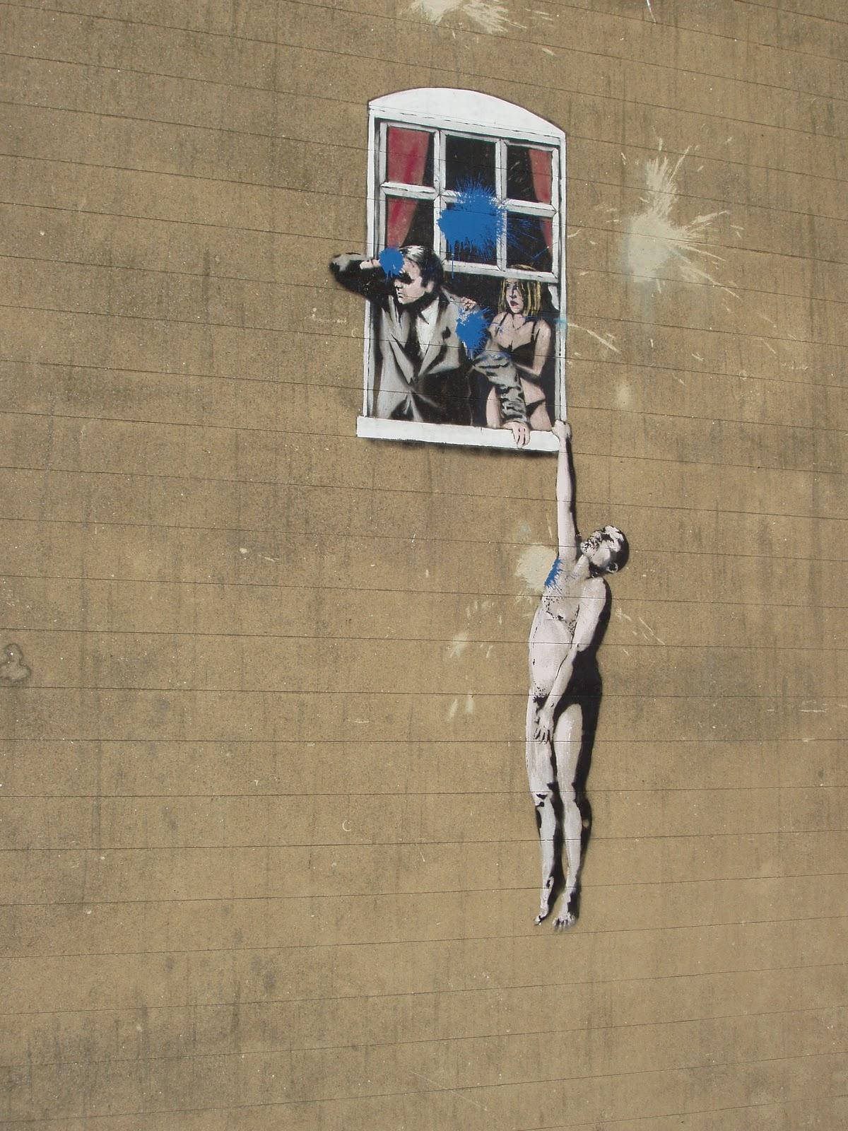 banksy an england based graffiti artist political Banksy is an england-based graffiti artist, political activist and film director of unverified identity his satirical street art and subversive epigrams combine dark.