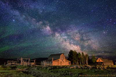 Nightscape Photography - Stars Over John Moulton Homestead