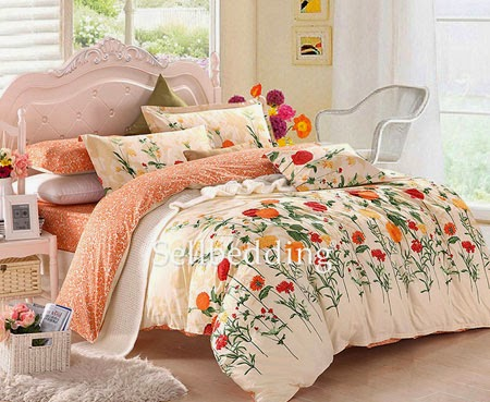 http://www.ogotobedding.com/white-and-orange-floral-patterned-cute-unique-cheap-bedinabag-p-200.html#.VMzM12iUe7k