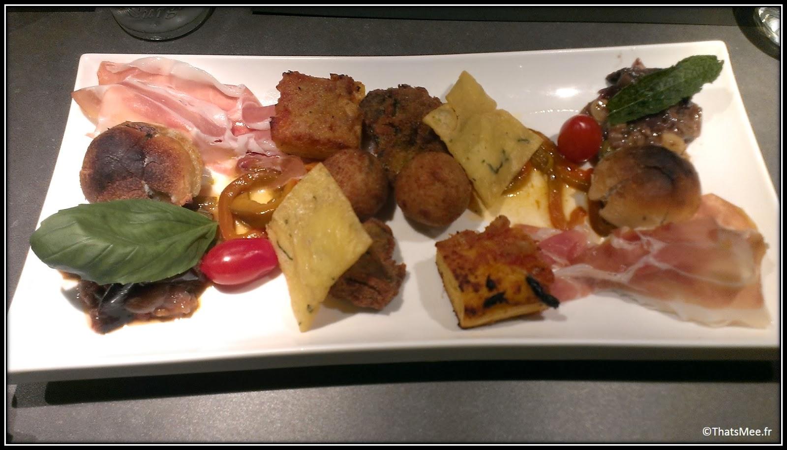 restaurant italien Les Amis de Messina Paris 12ème spécialités Sicile sicilienne antispasti