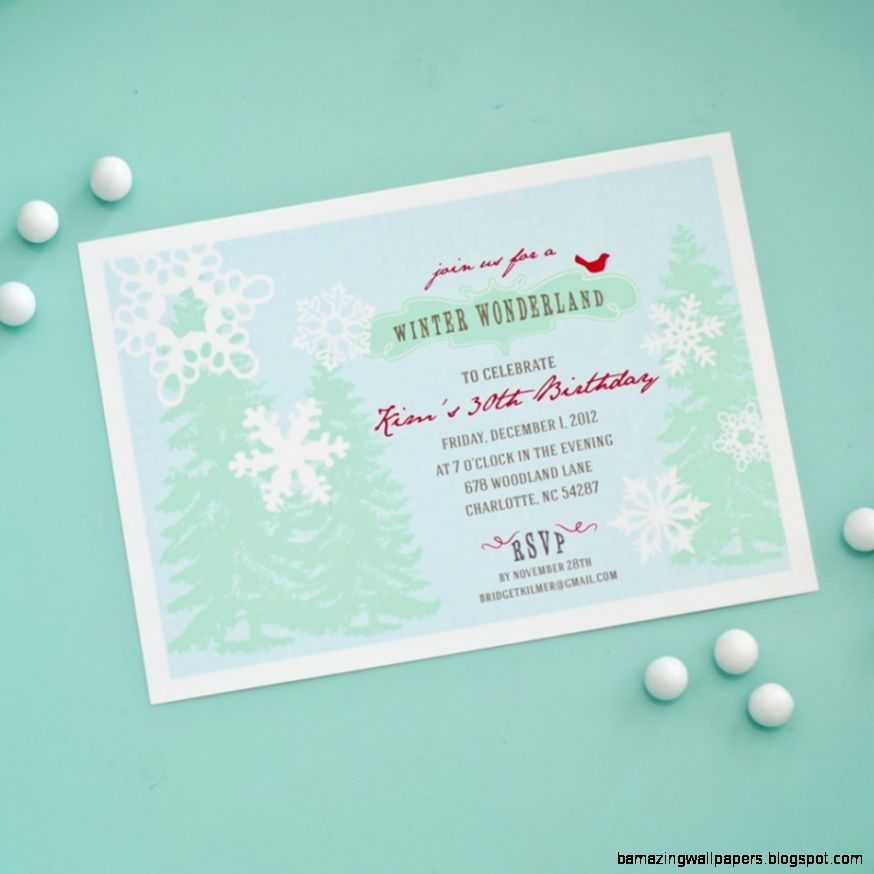Winter Wonderland Birthday Invitations