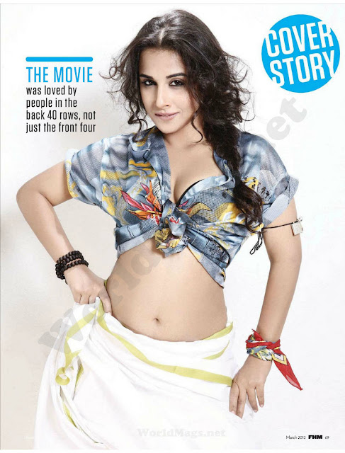 vidya balan photo shoot for FHM magazine photo