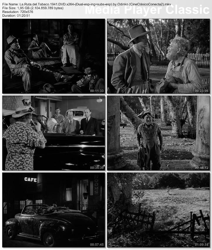 La ruta del tabaco | 1941 | Tobacco Road | secuencias de la película
