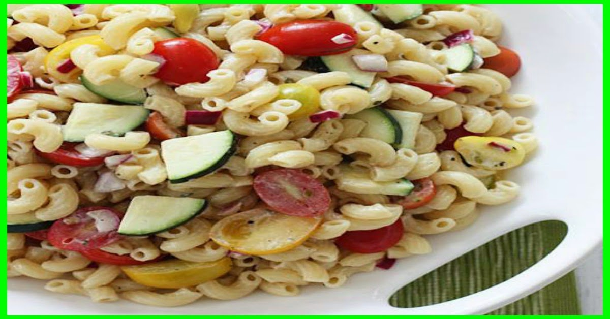 Summer Macaroni Salad With Tomatoes And Zucchini Recipe — Dishmaps
