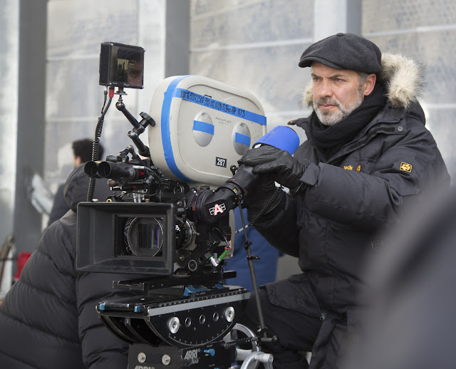 Director Sam Mendes on the set of Metro-Goldwyn-Mayer Pictures/Columbia Pictures/EON Production action adventure SPECTRE.