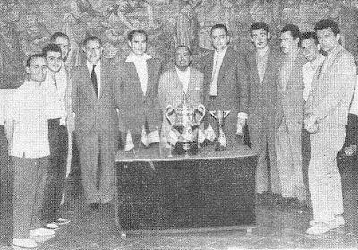 ajedrecistas participantes y organizadores del V Torneo Internacional de Tarragona 1960
