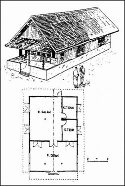 denah rumah gudang betawi