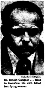 Newspaper clipping showing headwhot of a middle aged white man with a receeding hairline, wearing a suit