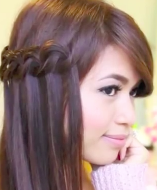 simple knotted waterfall braid