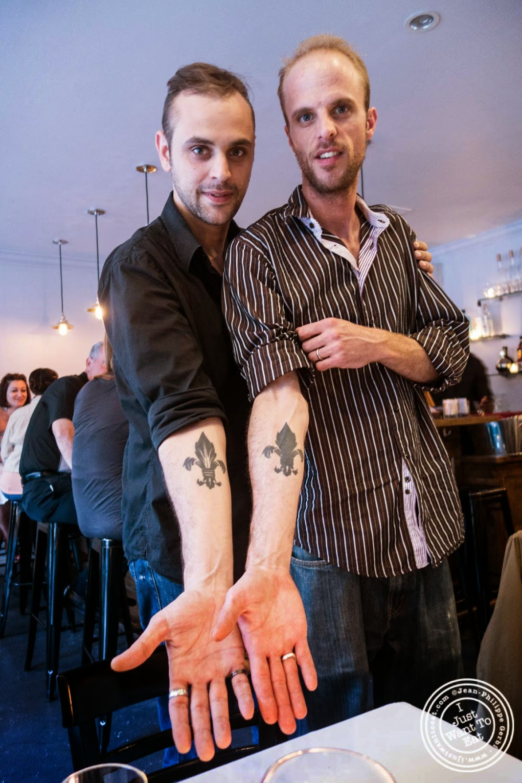 image of Alexis and Thibault Piettre from Frere de Lys, French restaurant on the Upper East Side, NY