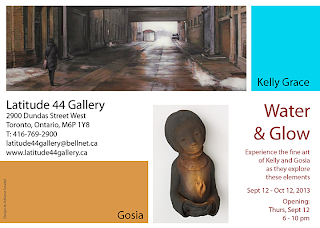"Exhibition ""Water and Glow"" with Kelly Grace and Gosia Kosciolek at Latitude 44 Gallery: September 12 - October 12, 2013"