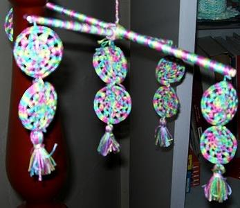 Handmade baby toys, Crochet circles, Rainbow colour toys