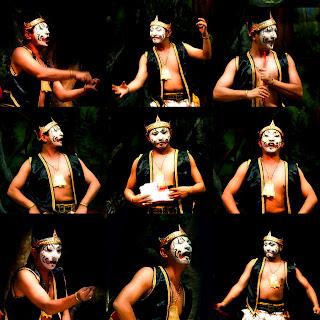Traditional Performance javanese puppet - Petruk photos