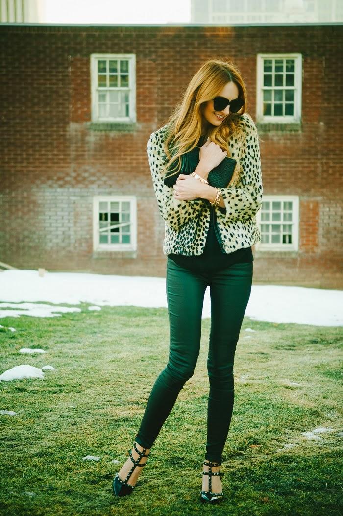 Leopard Print Faux Fur