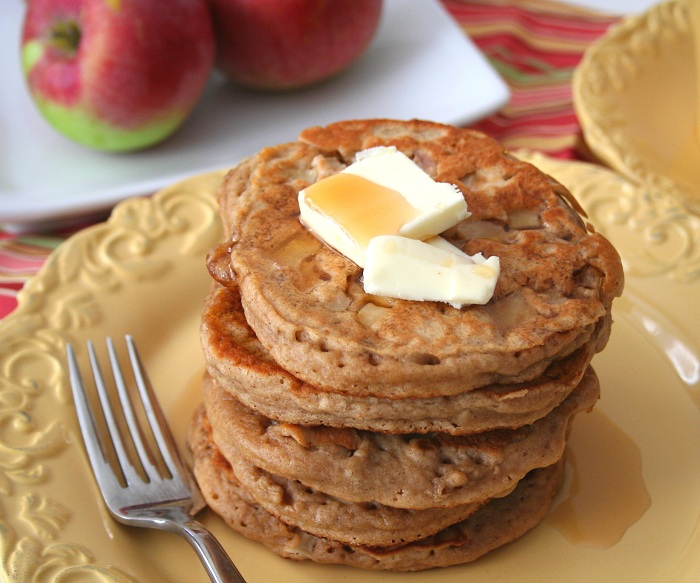 Whole Wheat Apple Cider Pancakes (Healthy Breakfast) | All Day I Dream ...