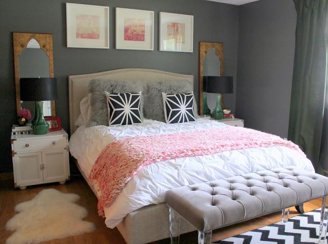 Schlafzimmer - gerne übersehener Raum in der Einrichtung: mit grauer Wandfarbe unterschiedliche Möbel zu einer Einheit formen