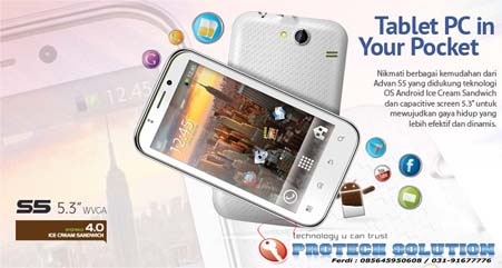 Advan Vandroid S5,Tablet Android,Tablet Dual SIM, Kamera 8MP,Advan