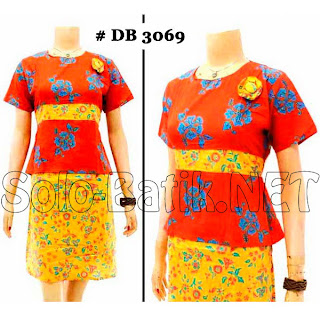 DB3069 Model Baju Dress Batik Modern Terbaru 2013