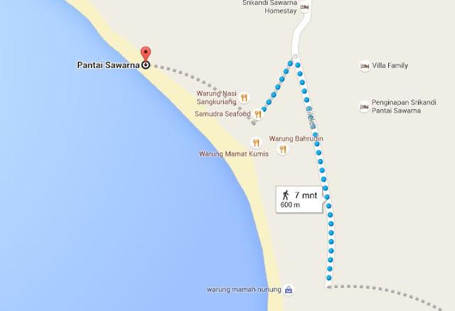 Lokasi Pantai Sawarna