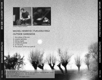 Michel Henritzi / Fukuoka Rinji - cd Outside darkness (portraits)