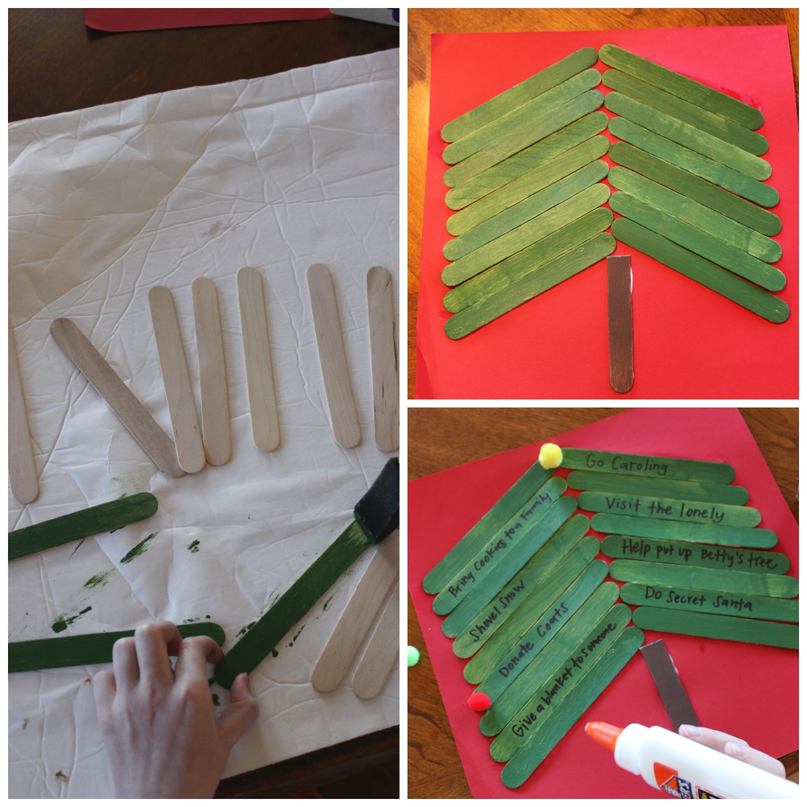 The giving christmas tree kids craft i dig pinterest - Interesting tables capes for christmas providing cozy gathering space ...