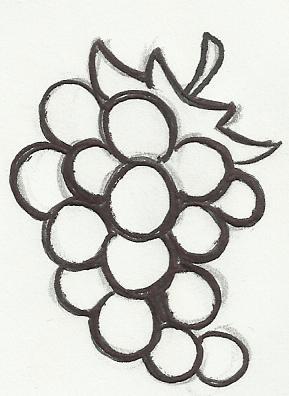 desenho de cacho de uva para imprimir e colorir desenhos para