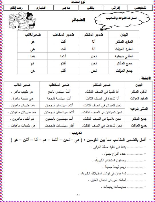 شيتات المجموعة المدرسية لمادة اللغة العربية للصف الثالث الابتدائى على هيئة صور للمشاهدة والتحميل The%2Bsecond%2Bunit%2B3%2Bprime_004