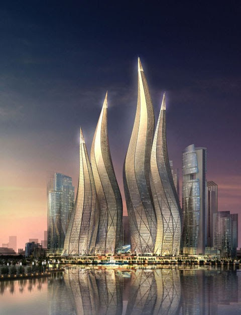 Famous buildings of the world dubai tower uae for Famous structures in dubai