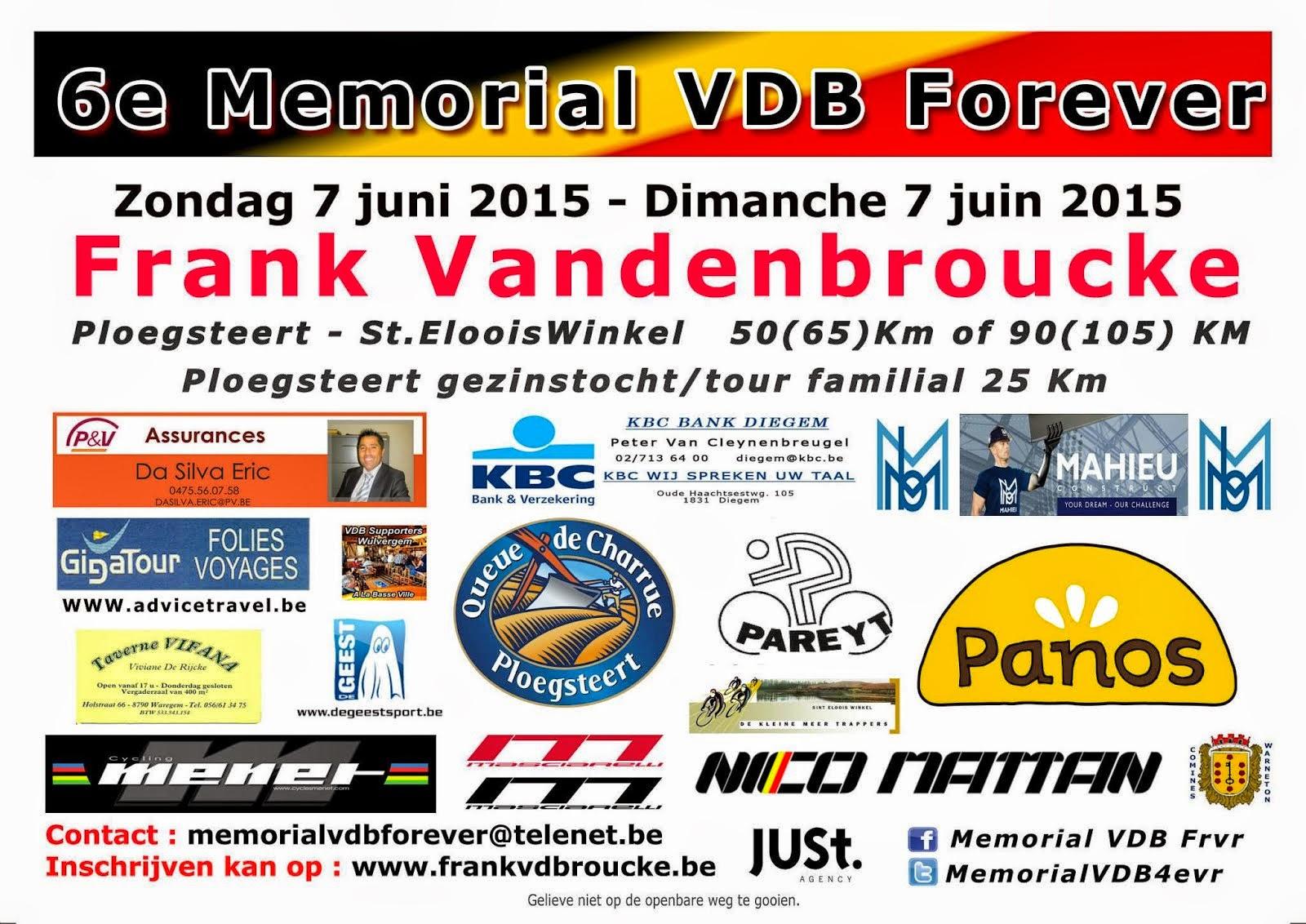 7 juin Mémorial VDB Forever.