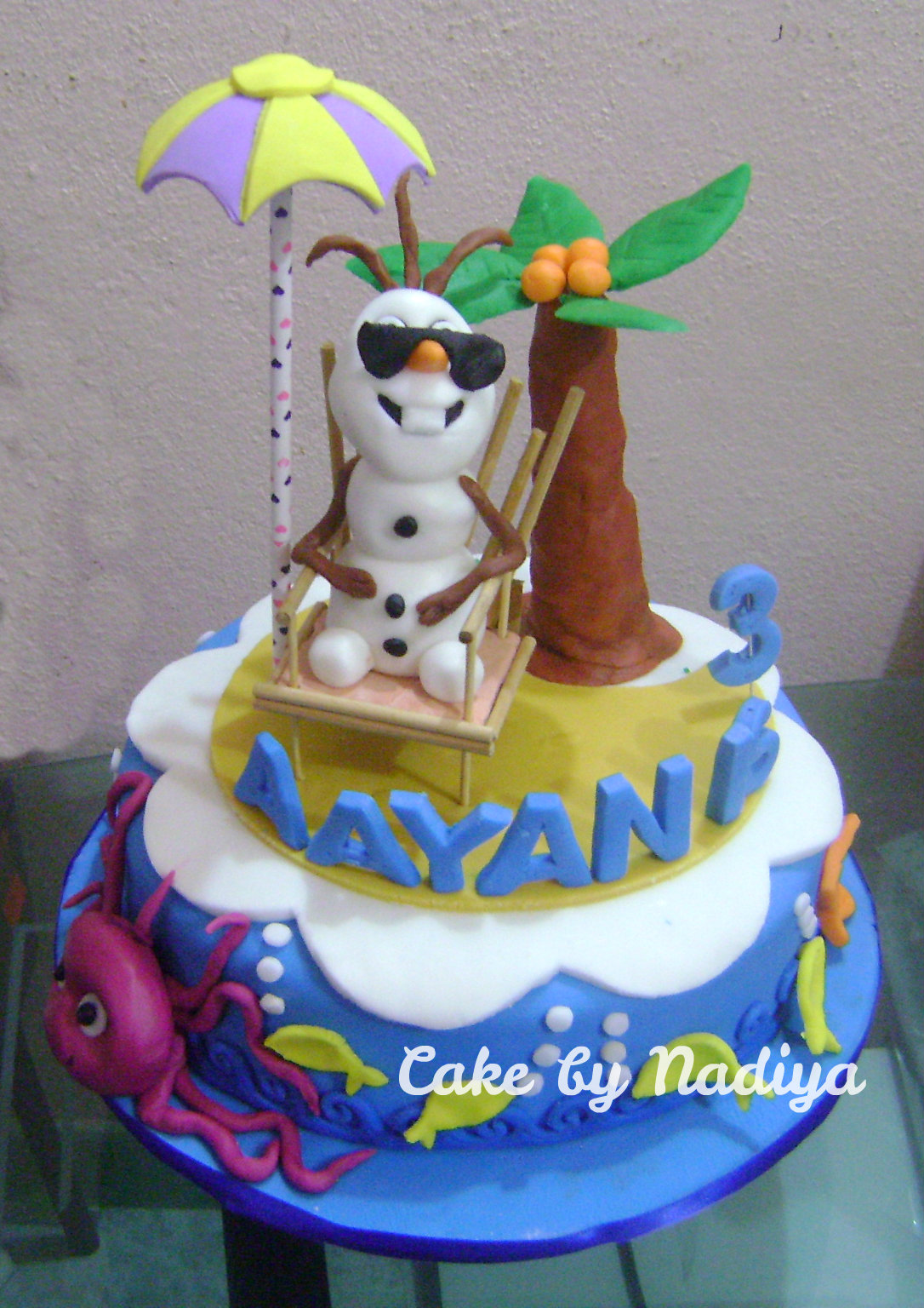 Nadiya s Tastes Maldives Olaf At Beach Cake Simple