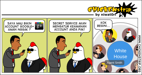 Google+ Funny Comics: Obama and Google+