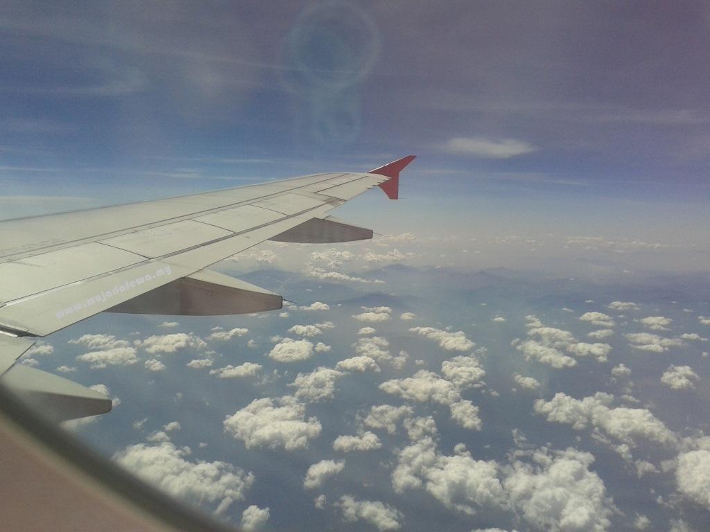 sepetang bersama blogger 2014, sbb2014, awan dari kapal terbang