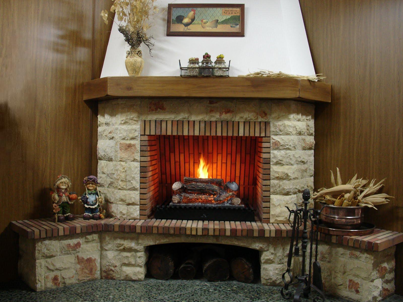 La palmera negra la chimenea - Chimenea de gas natural ...