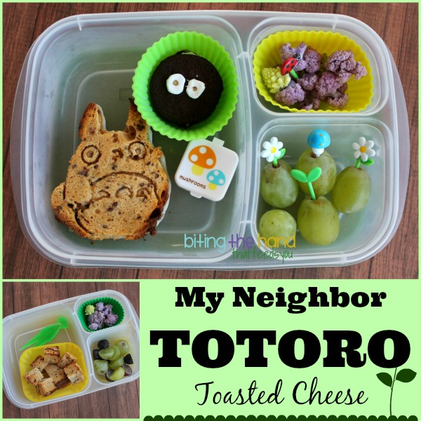 My Neighbor Totoro toasted cheese sandwich and Soot Sprite cookie!