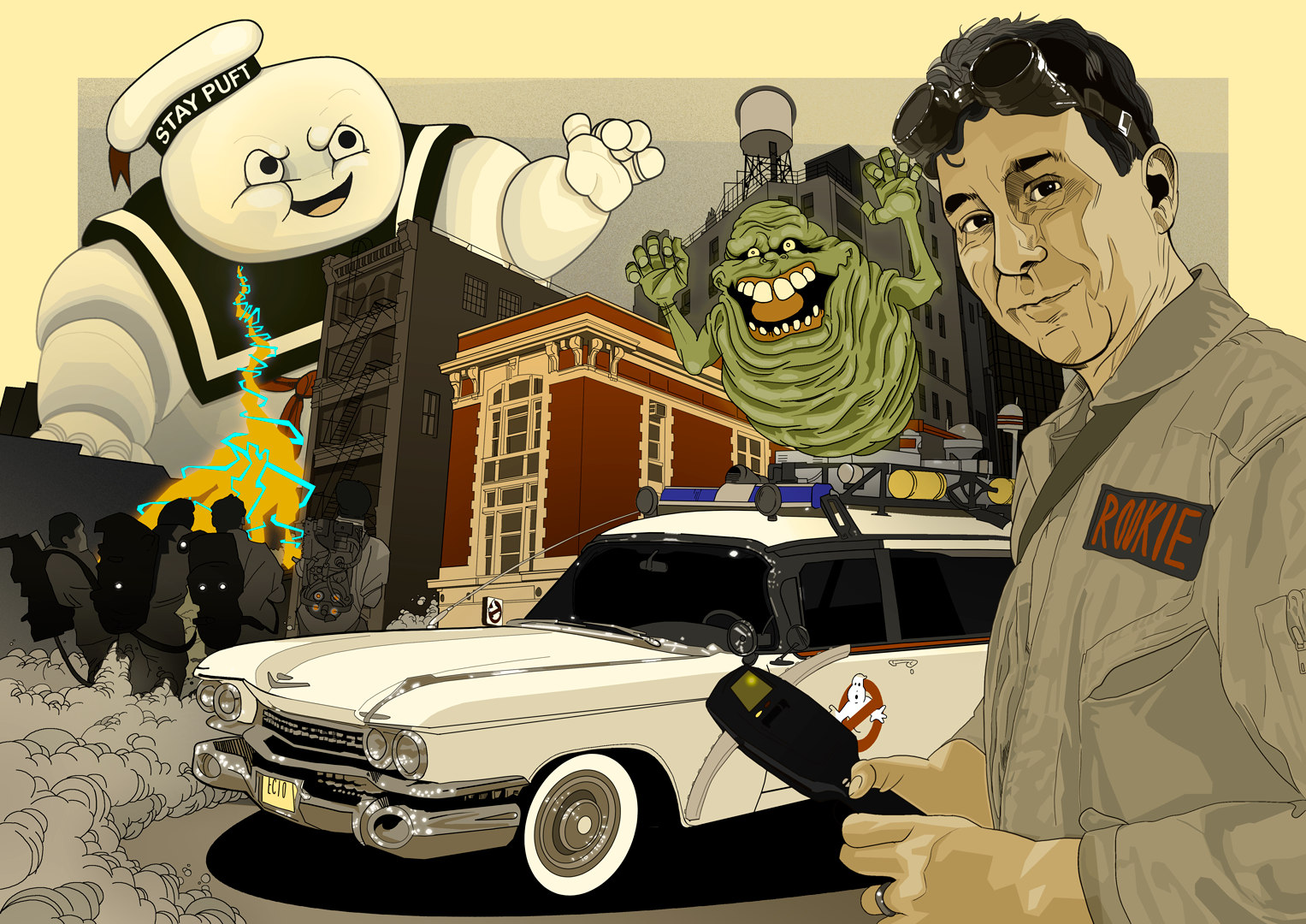 personalised Ghostbusters artwork