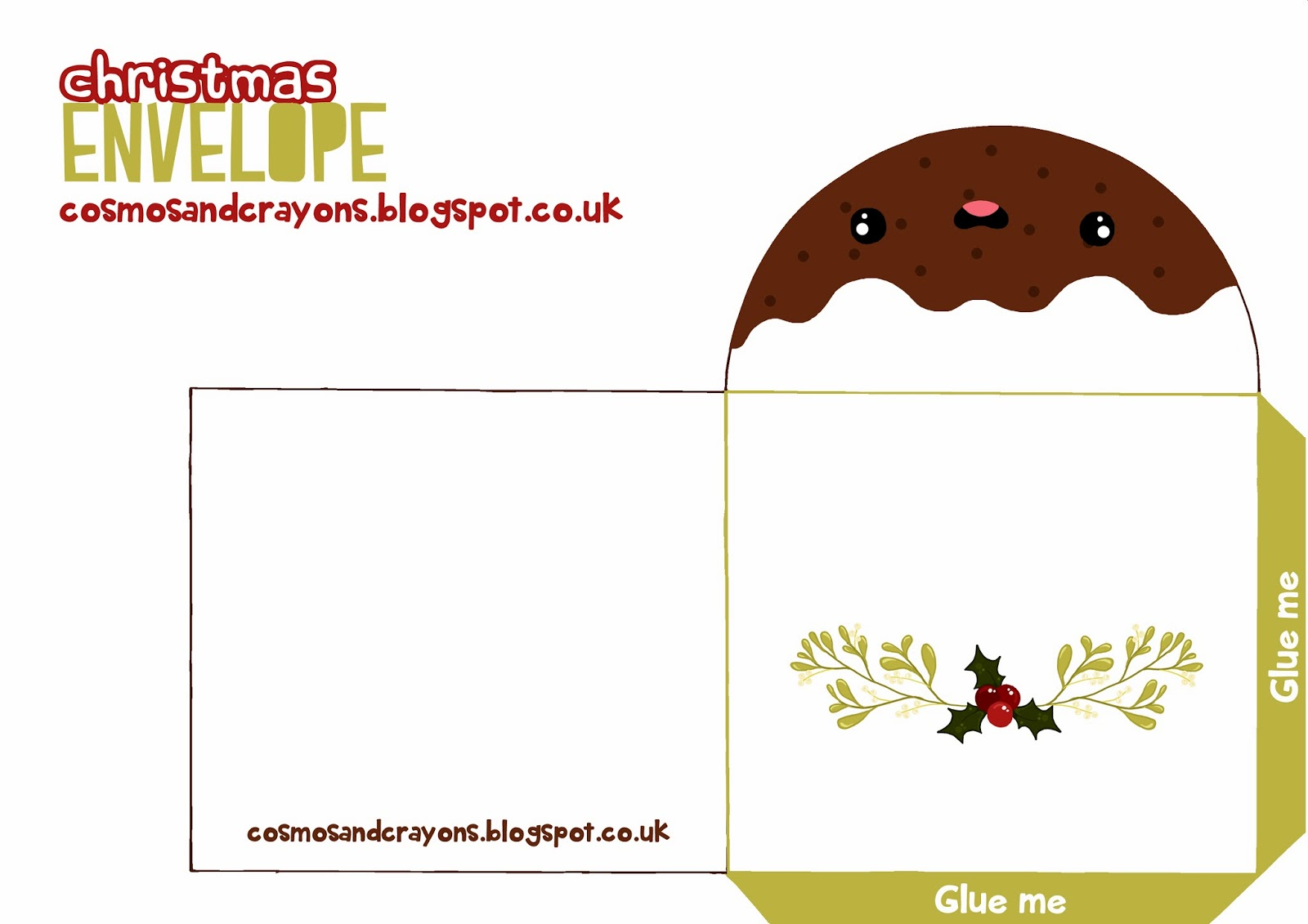 printout two envelopes full size a4 landscape - Christmas Card Print Out