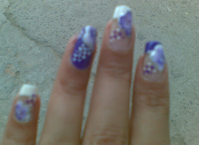 one stroke pretty nails design  picture