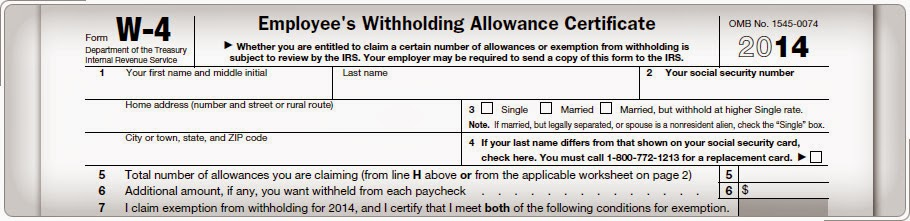 IRS Form W-4 - Source: http://apps.irs.gov/app/vita/content/30/30_04_028.jsp?level=basic