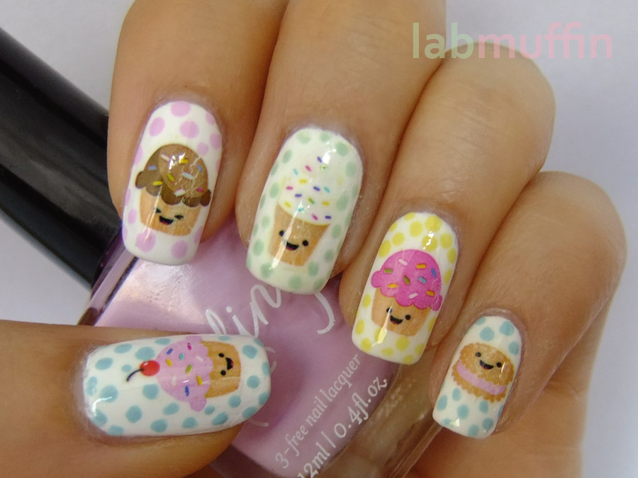 cool cup cake nail art design - Latest Fashion Trends - HD Wallpapers