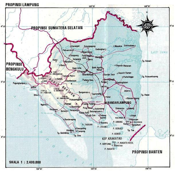 Gambar Peta Lampung | Download Peta Provinsi Lampung