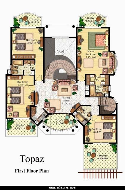 Modern duplex villa plans detail for Villa plan dwg