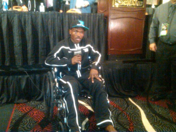 Bradley in wheelchair after Pacquiao fight