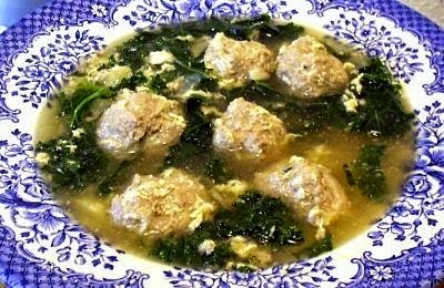 Italian Egg Drop Soup with Little Meatballs: simplelivingeating.com
