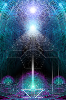 sacred geometry trippy art