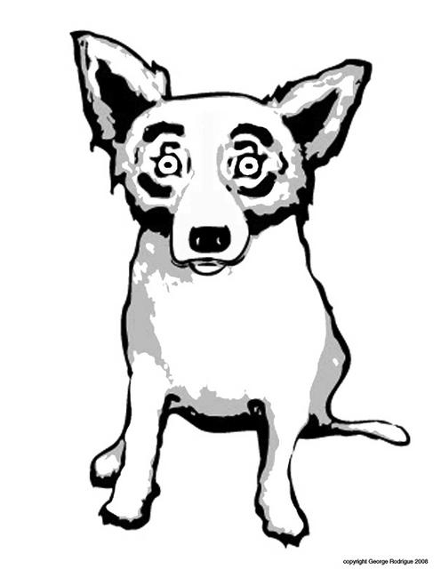 Blue Dog Coloring Page Pages For Kids And All Ages Emerson Art Talks