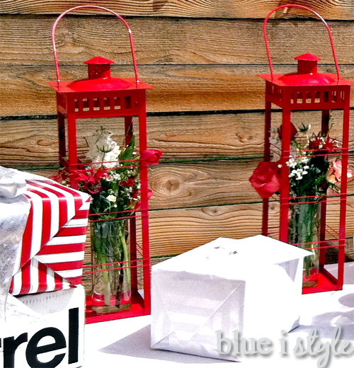entertaining with style} Arranging Flowers in Outdoor Lanterns ...