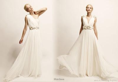Bridesmaid dresses 2011 popular white wedding dresses for Toga style wedding dress
